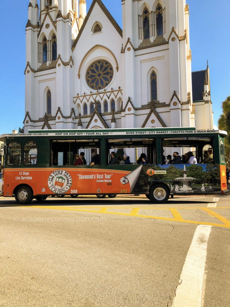 Trolley Tour in front of St. John's Cathedral