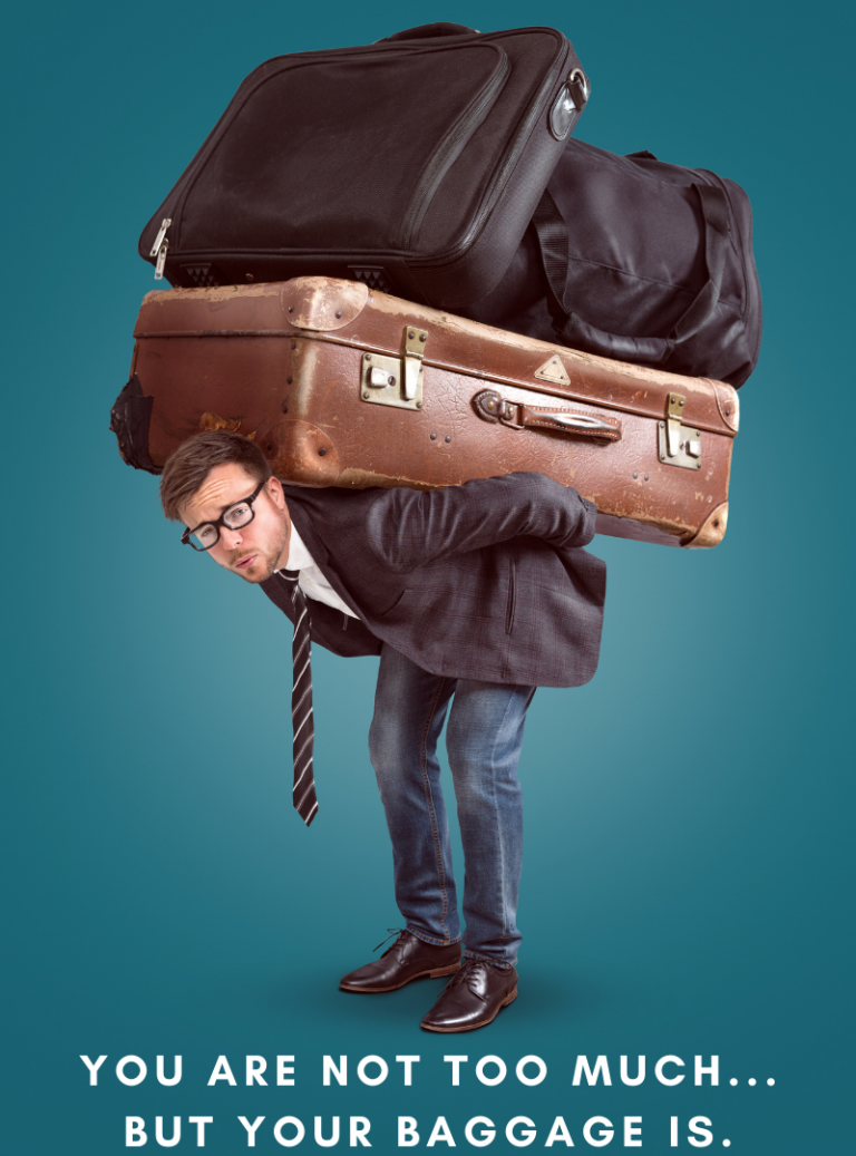 Man with Suitcases on his Back