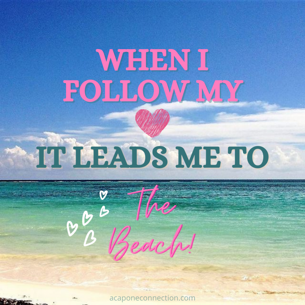 Inspirational Quote about the beach