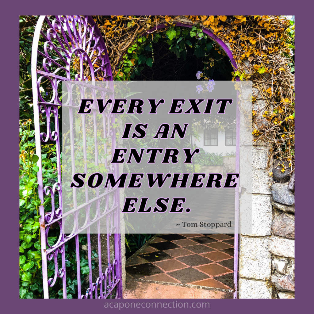Inspirational Quote about exits
