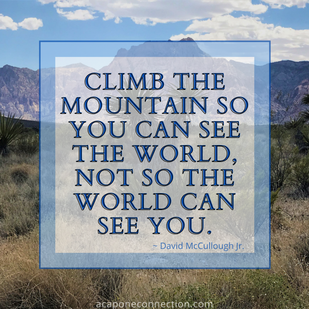 Inspirational Quote about climbing the mountain