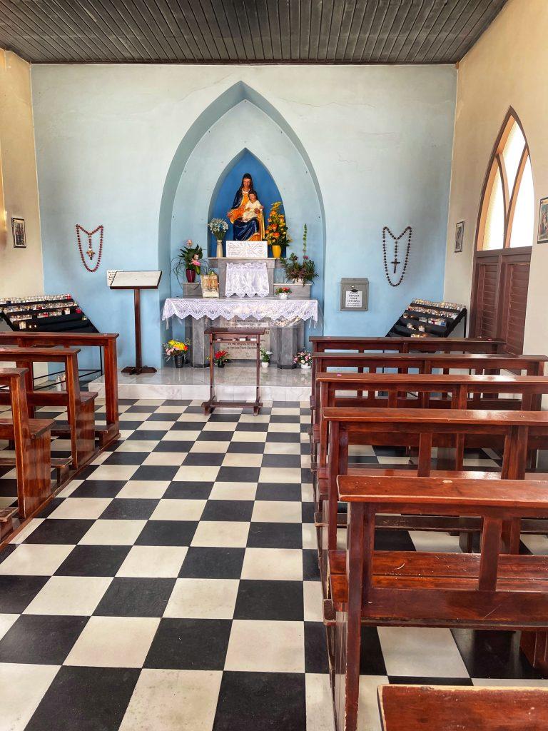 Interior of Church in Aruba
