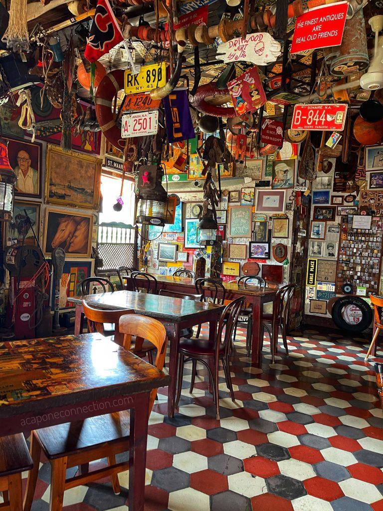 Interior of Charlie's Bar and Restaurant Aruba