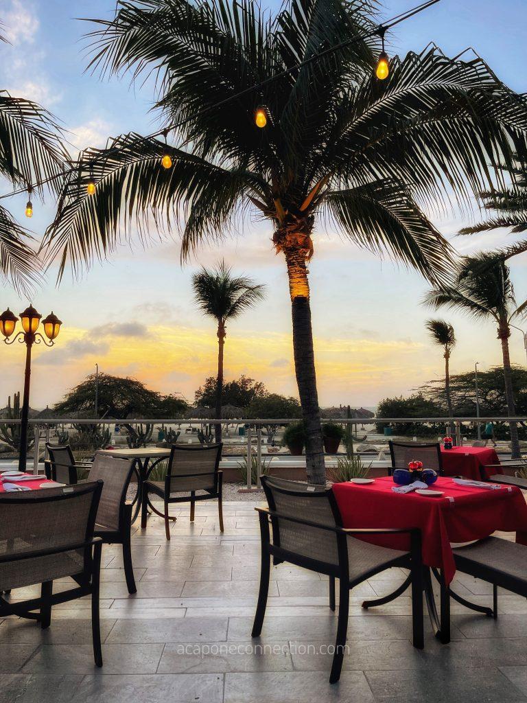 Outside Las Ramblas Restaurant Aruba